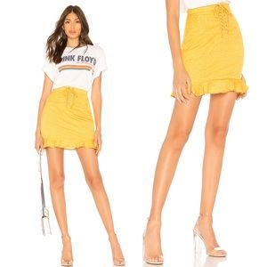 Revolve By The Way Mustard Yellow Esme Skirt Dots